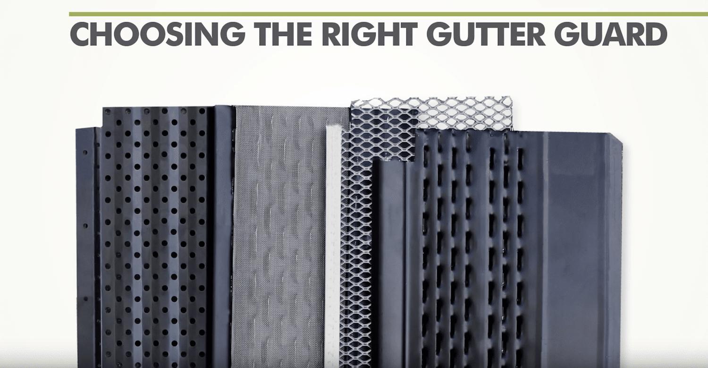 choosing the right gutter guard