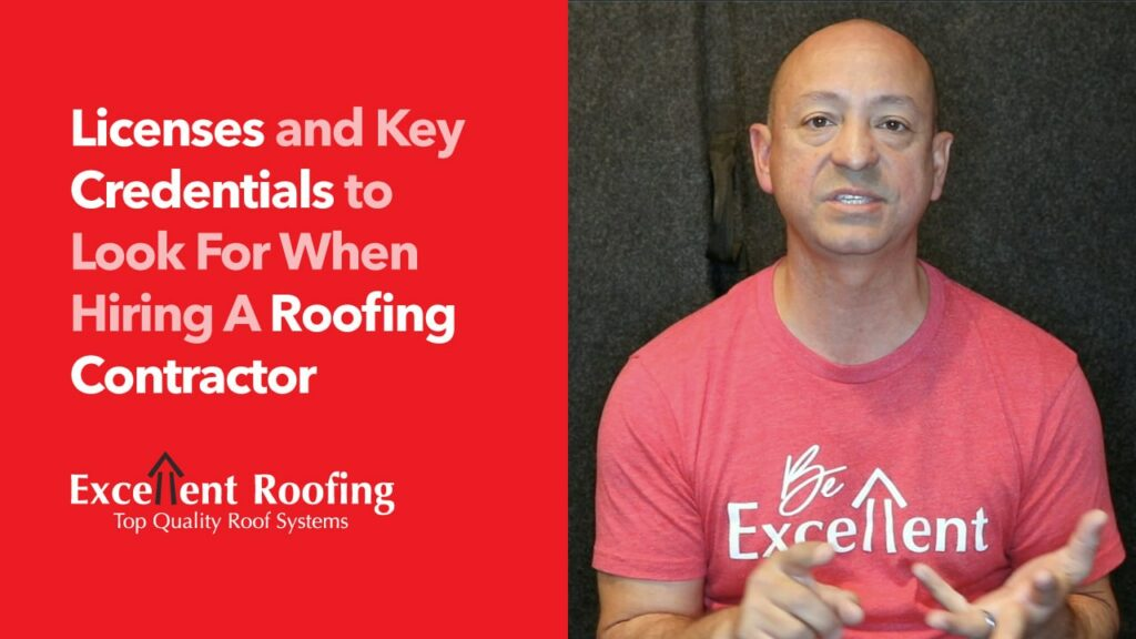licenses and key credentials for roofing contractor excellent roofing memphis, TN